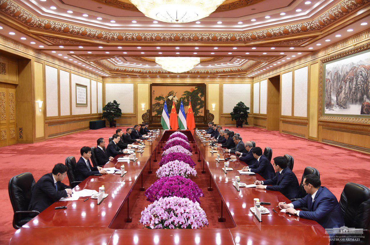 Réunion Chine Ouzbékistan