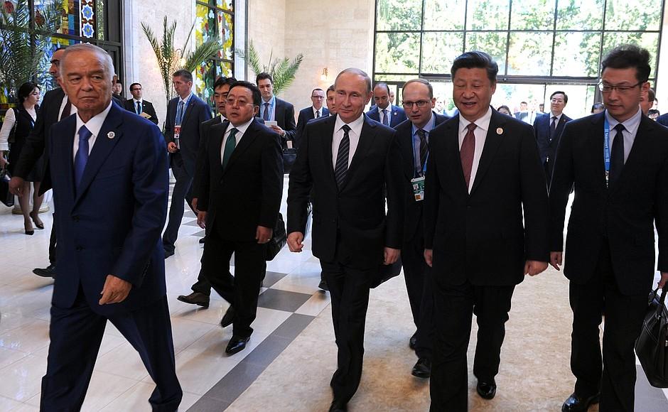 Islam Karimov Vladimir Poutine Xi Jinping Ouzbékistan Chine