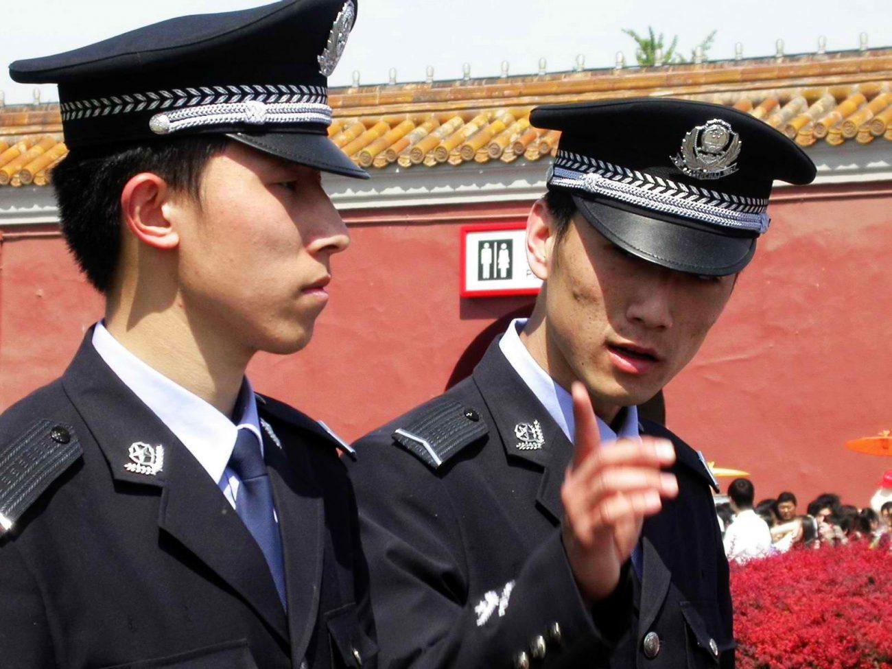 Kirghizstan police chine xinjiang