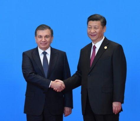 Chine Ouzbékistan Chavkat Mirzioïev Xi Jinping Diplomatie Relations bilatérales poignée de main