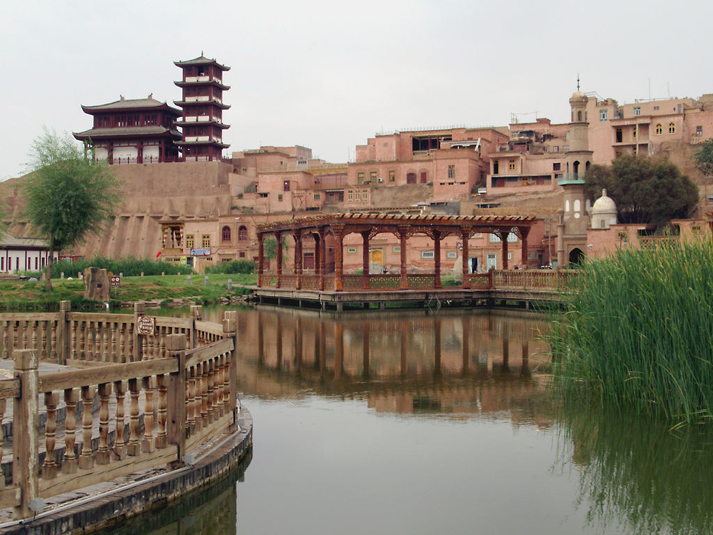 Vieille ville Kachgar Chine Région autonome ouïghoure Xinjiang Rénovation