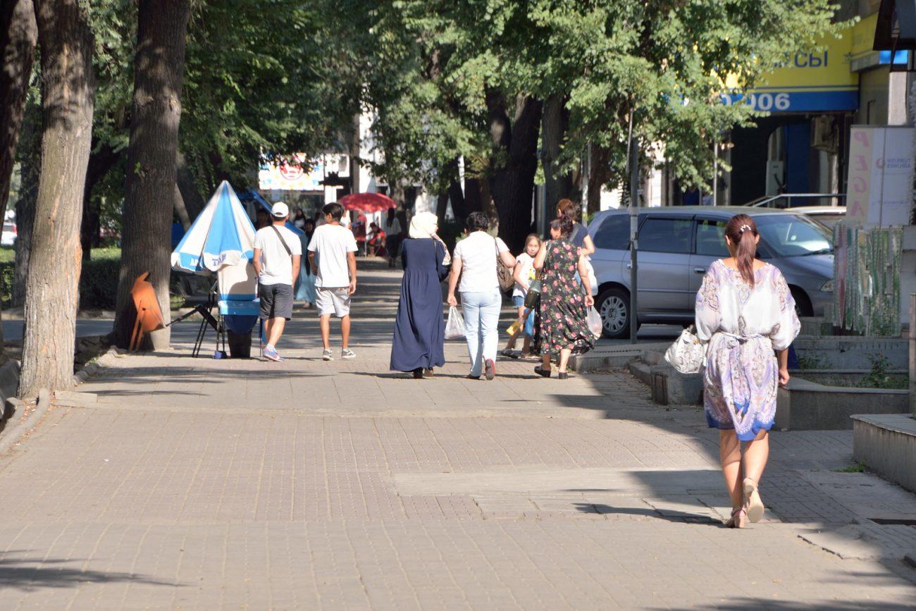 Rues Bichkek Kirghizstan Femmes Nom