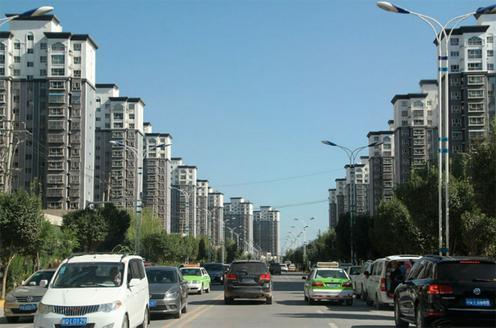 Banlieue Kachgar Chine Région autonome ouïghoure Xinjiang
