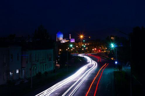 Photo Samarcande Ouzbekistan nuit
