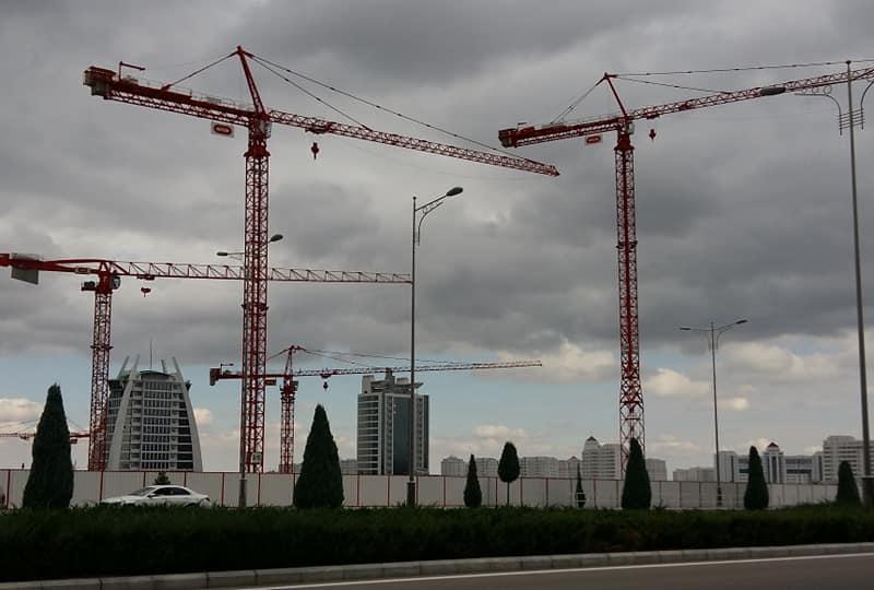 Turkménistan Bouygues Parlement Construction Economie