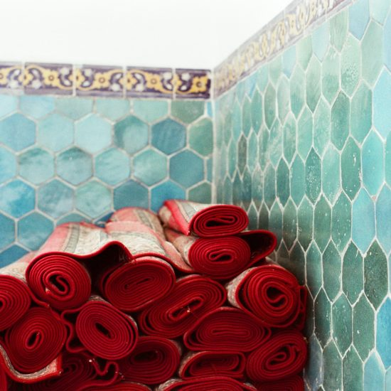 Taips de prière Boukhara Ouzbékistan mosquée