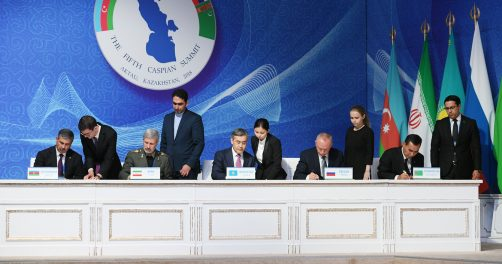Mer Caspienne Diplomatie Iran Azerbaïdjan Russie Kazakhstan Turkménistan Ratification