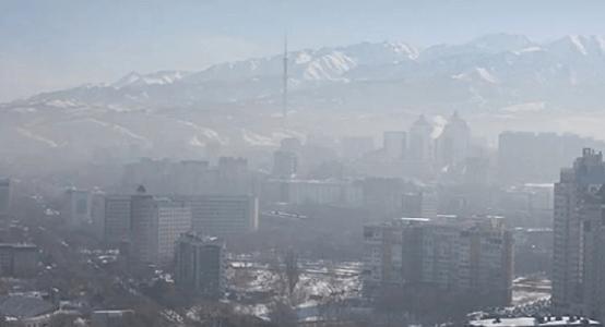 Pollution Ville Almaty Capitale Kazakhstan