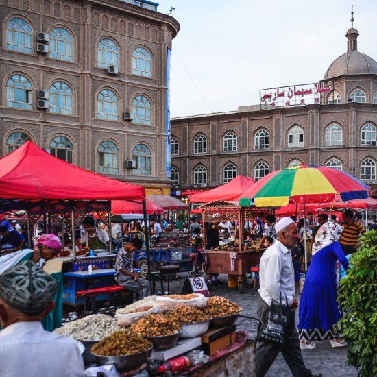 Kachgar Chine Xinjiang Rénovations Marché