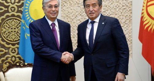Kassym-Jomart Tokaïev Soroonbaï Jeenbekov Kazakhstan Kirghizstan Visite Politique Frontière