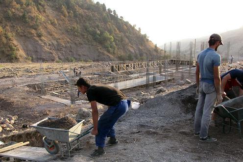Tadjikistan travaux hôtel