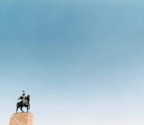 Manas Bichkek Ala-Too Kirghizstan statue