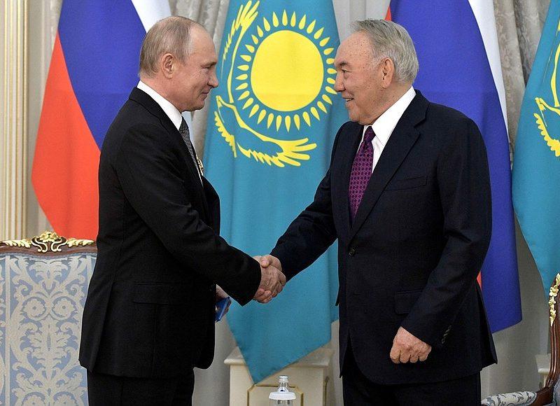 Noursoultan Nazarbaïev Vladimir Poutine Kazakhstan Russie Transition Réforme Politique Constitution Influence