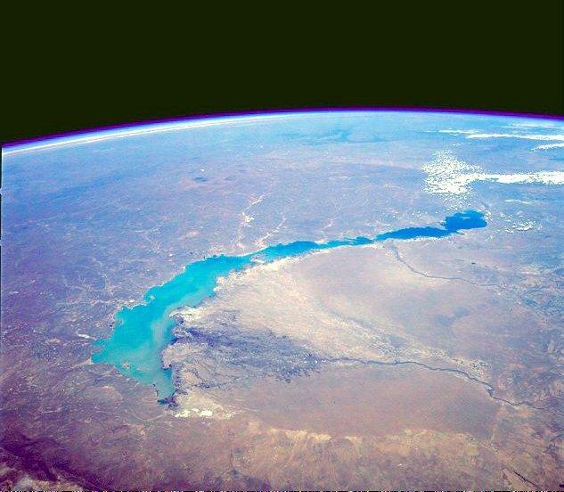 Lac Balkhach Kazakhstan Eau Environnement Espace