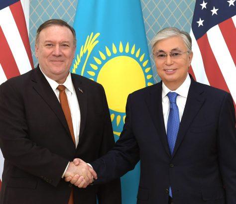 Etats-Unis Asie centrale diplomatie stratégie Mike Pompeo Kassym-Jomart Tokaïev