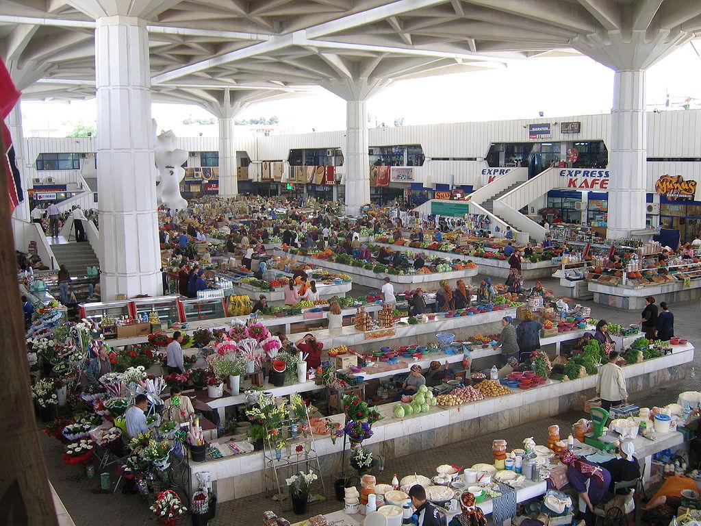 Marché Russe Turkménistan Achgabat Capital Bazar