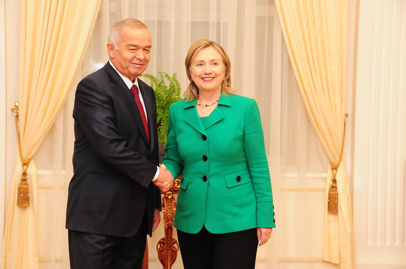 Hillary Clinton Islam Karimov 2011