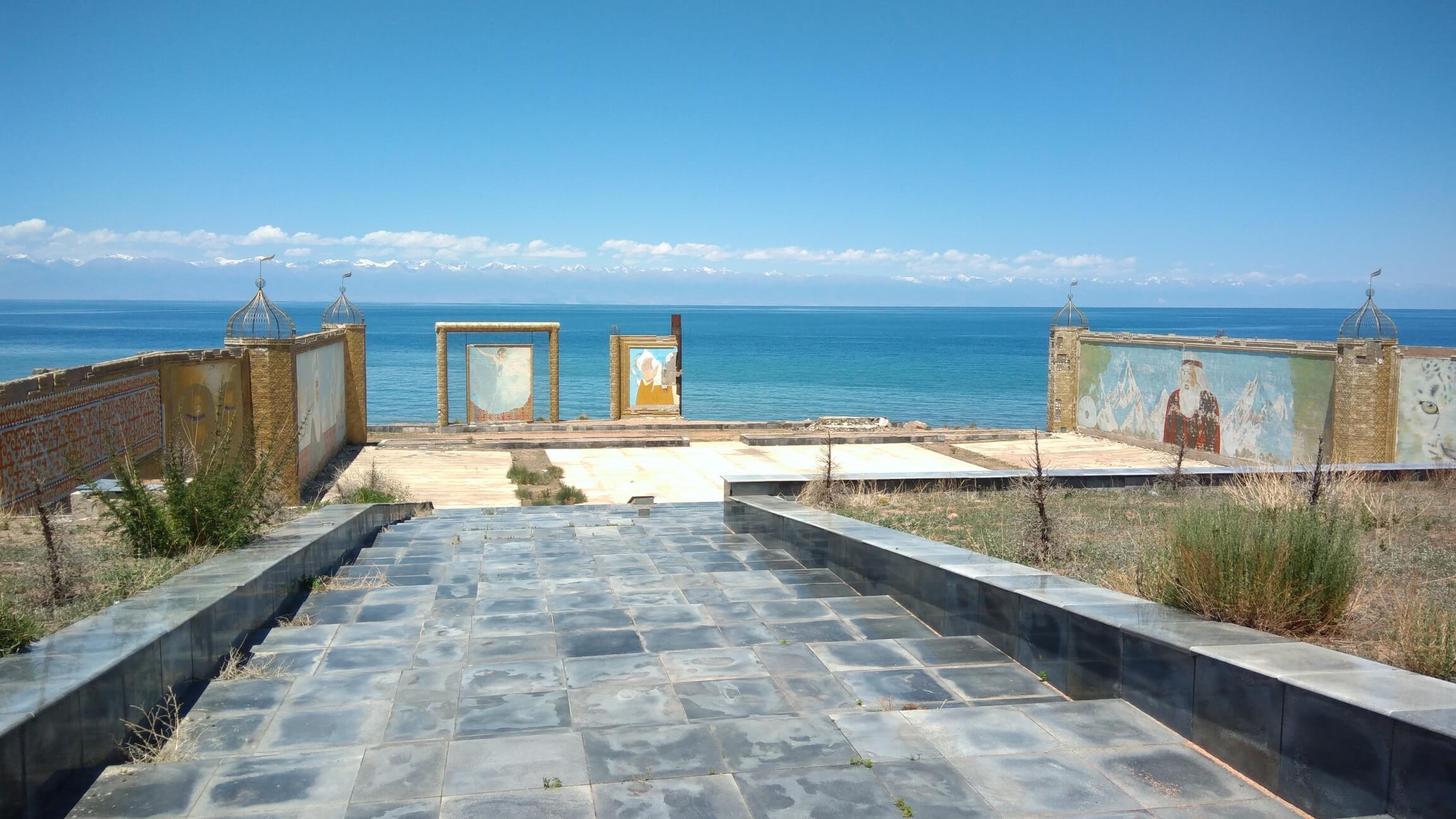 Amphithéâtre Aalam Ordo Ruine Issyk-Koul Kirghizstan