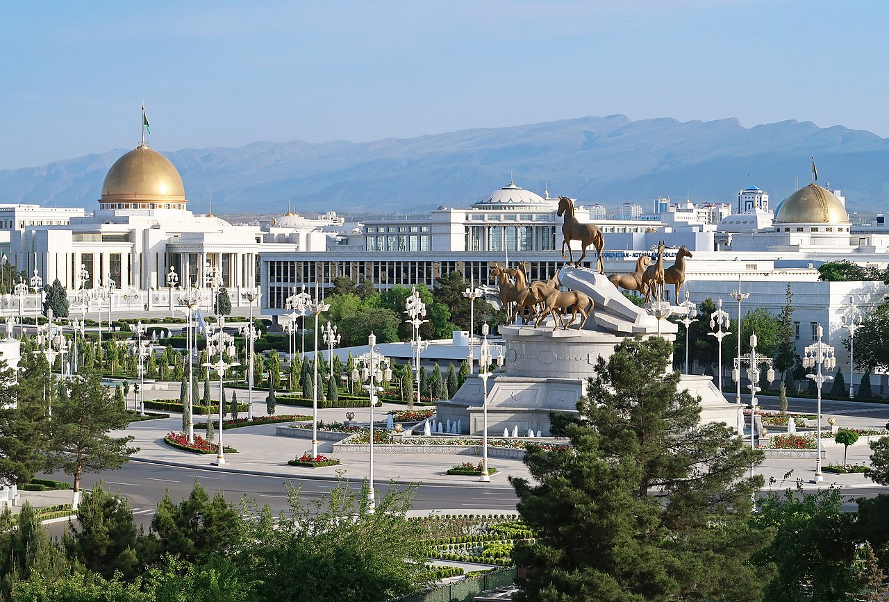 Vue Achgabat Turkmenistan