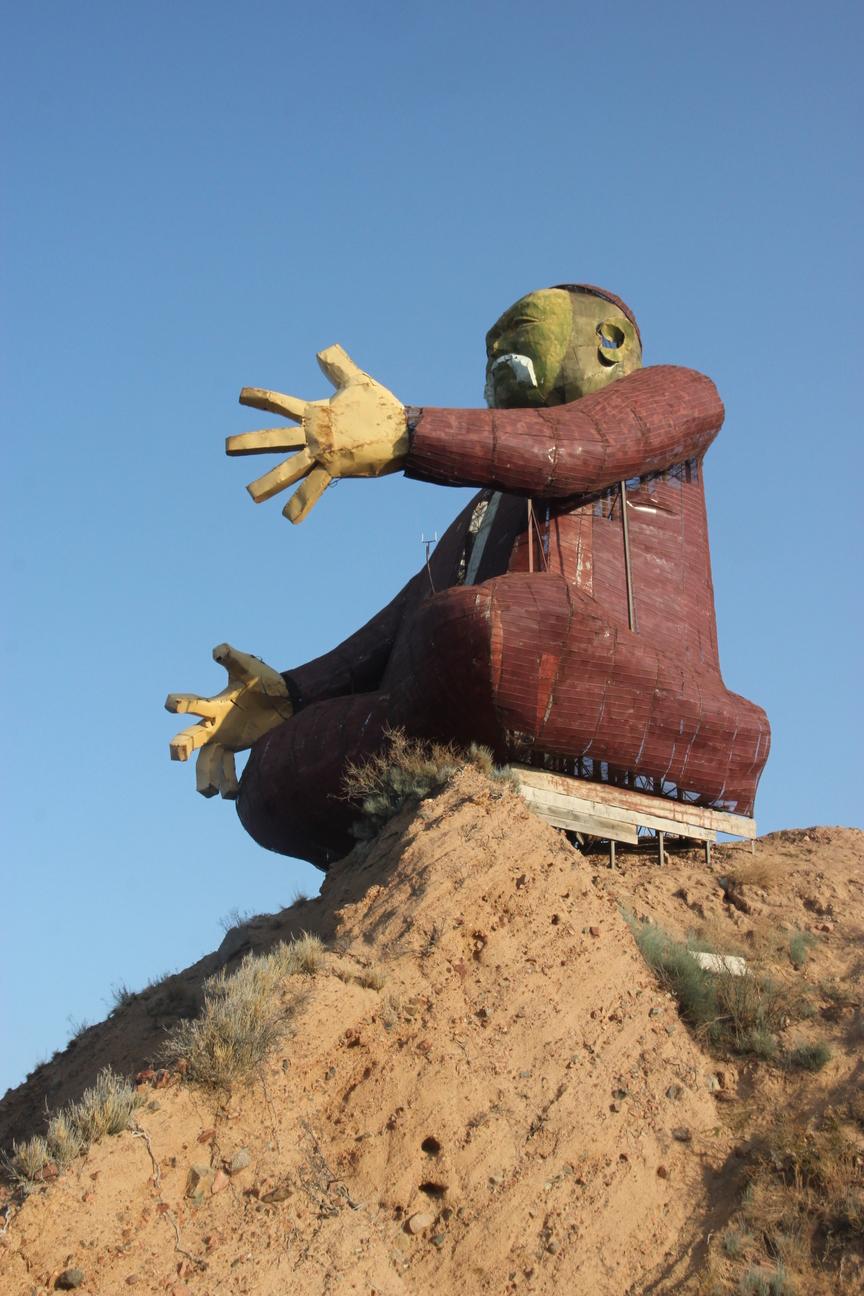 Statue Barde Aalam Ordo Issyk-Koul Kirghizstan