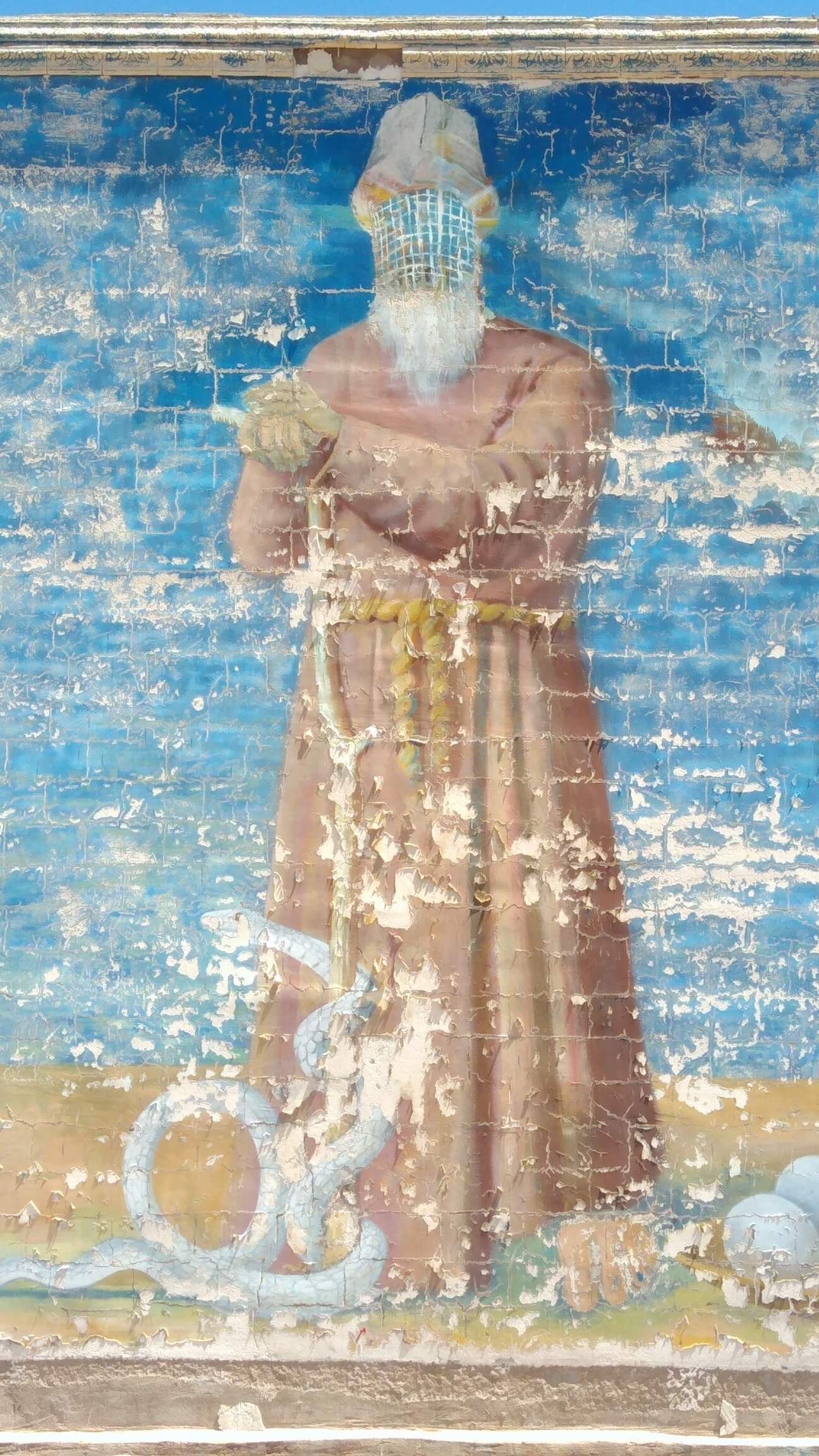 Peinture Al-Khidr Prophète Issyk-Koul Kirghizstan