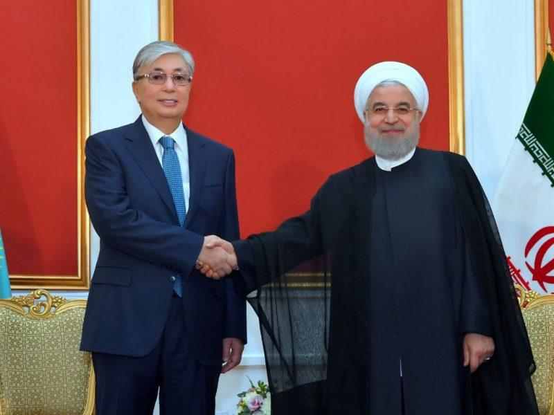 Kassym-Jomart Tokaïev Hassan Rohani Iran Kazakhstan Relations bilatérales Diplomatie Commerce Entretien