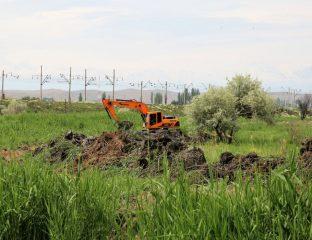 Kazakhstan Jambyl Eau Irrigation Réservoirs Travaux Economie Ecologie Agriculture
