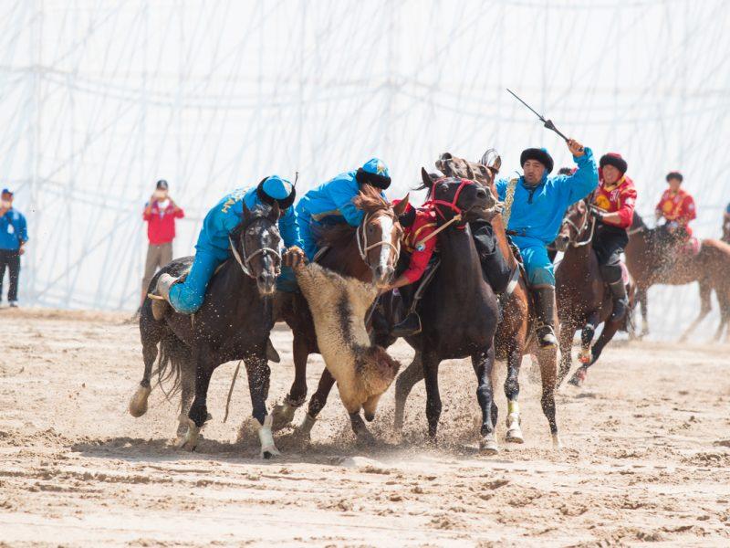 Kirghizstan Jeux Mondiaux Nomades Kök-Börü Sport Chevaux