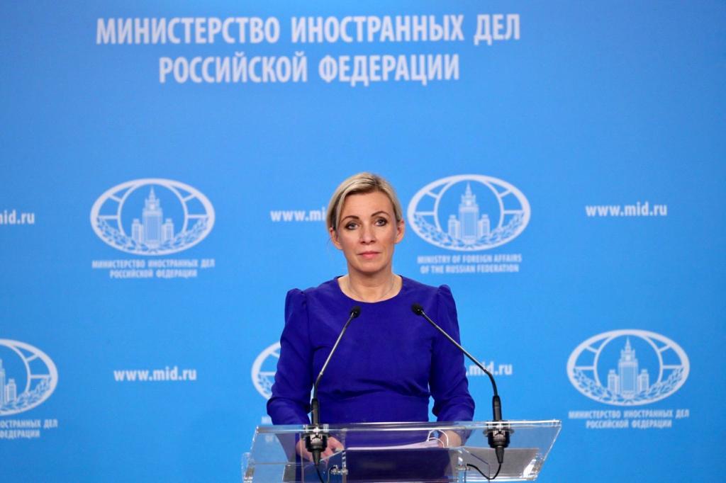 Maria Zakharova Russie Ministère Affaires Etrangères