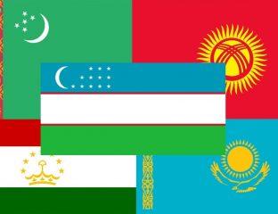 Montage drapeaux centrasie