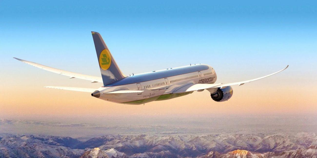 Uzbekistan Airways Ouzbékistan Avion Aérien Transport Economie