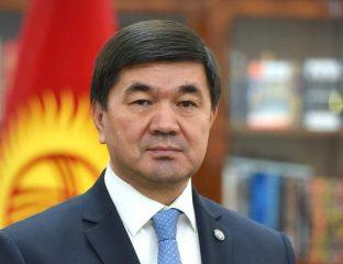 Mohammedkaly Abylgaziev Kirghizstan Politique Démission Premier ministre