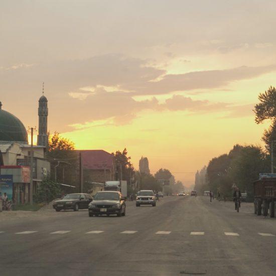 Kirghizstan Bichkek Coucher de soleil