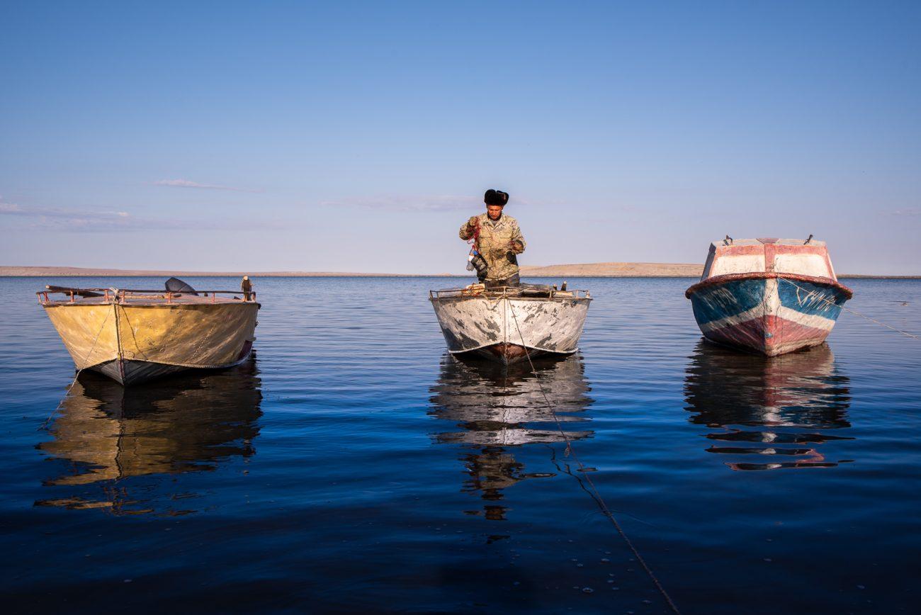 Retour de pêche sur la mer d'Aral