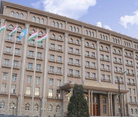 Le ministère des affaires étrangères tadjik à Douchanbé