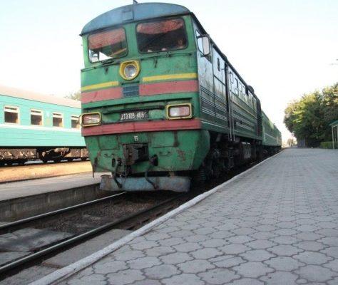 train, gare, Bichkek, Kirghizstan, Balyktchi, rails