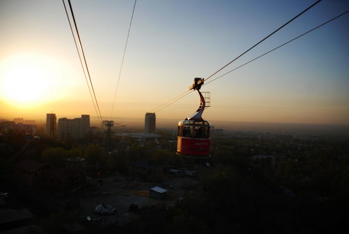 Almaty Kazakhstan Téléphérique