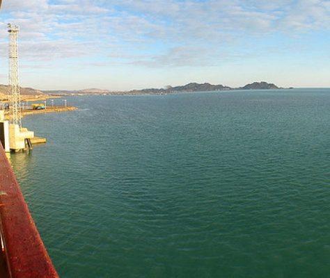 La mer Caspienne depuis le Turkménistan