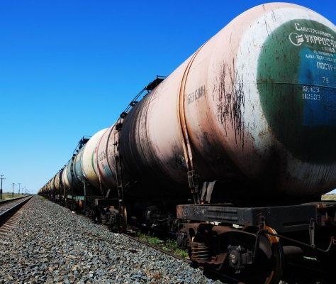 Train pétrole Kazakhstan