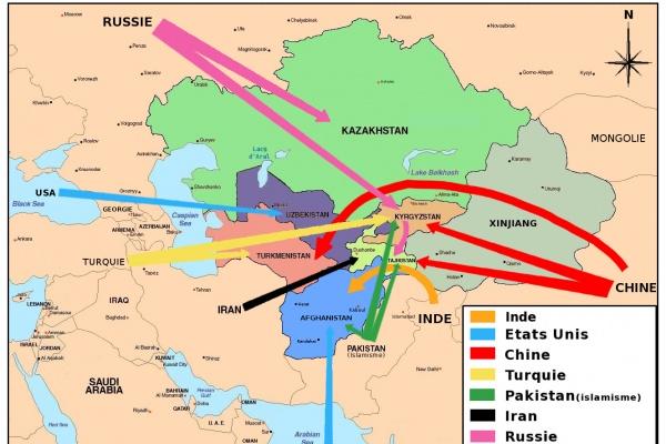 La Carte De Lasie Centrale.Ou Va L Asie Centrale Entre Chine Russie Et Islam Le