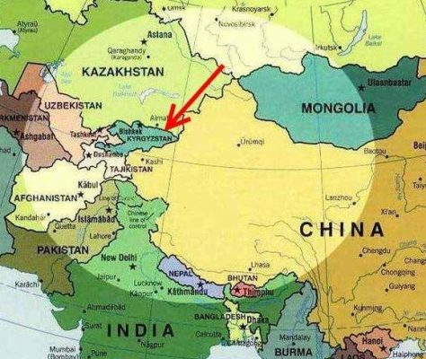 Carte Asie centrale