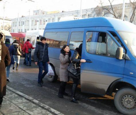 Un minibus à Bichkek, Kirghizstan