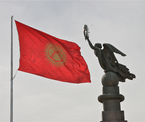 Statue Libérté place Ala-Too Bichkek