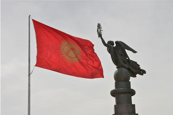 Statue Liberté place Ala-Too Bichkek