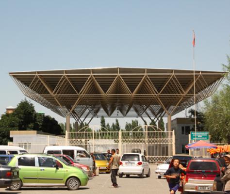 Point Passage Frontière Ouzbékistan Kirghizstan Vallée Ferghana