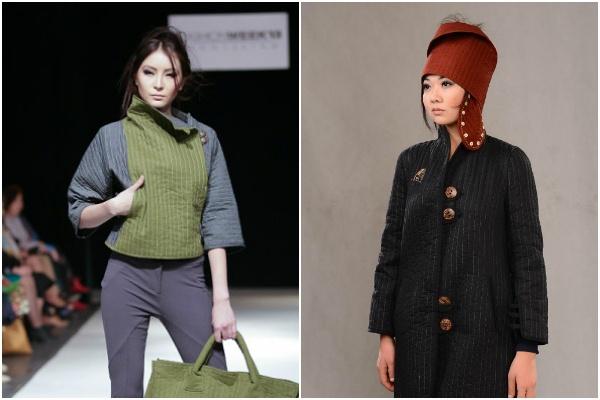 Jumagul Sarieva défilé mode Kirghizsta