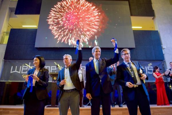 Kirghizstan Université américaine inauguration John Kerry