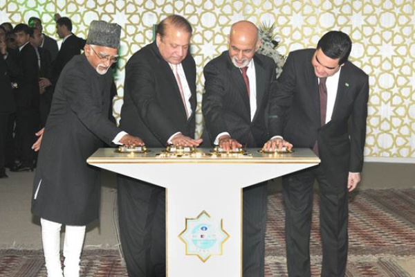 Hamid Ansari Nawaz Sharif Ashraf Ghani Gurbanguly Berdimuhamedov contrat TAPI construction pipeline gaz