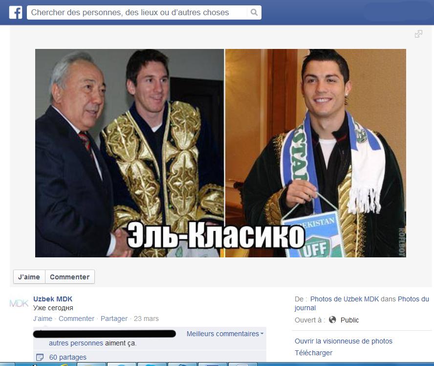 Page Facebook Uzbek MDK